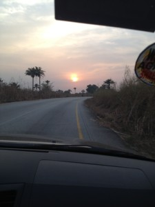 Sunset in West Africa